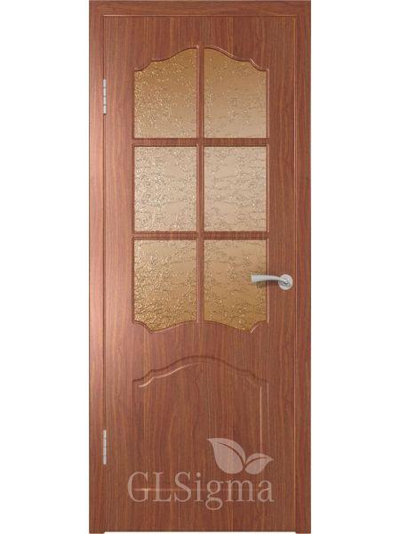 Межкомнатная дверь ВФД GL Sigma 32 ПО Решетка (Итальянский орех)