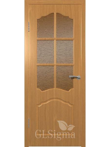 Межкомнатная дверь ВФД GL Sigma 32 ПО Решетка (Миланский орех)