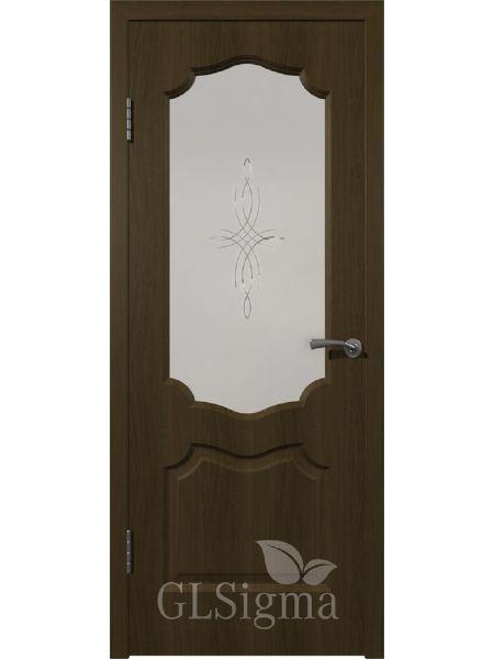 Межкомнатная дверь ВФД GL Sigma 92 ПО (Ольха браун)
