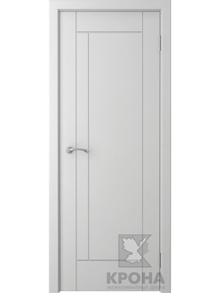 Межкомнатная дверь Крона ПГ Гранада (Белая эмаль)