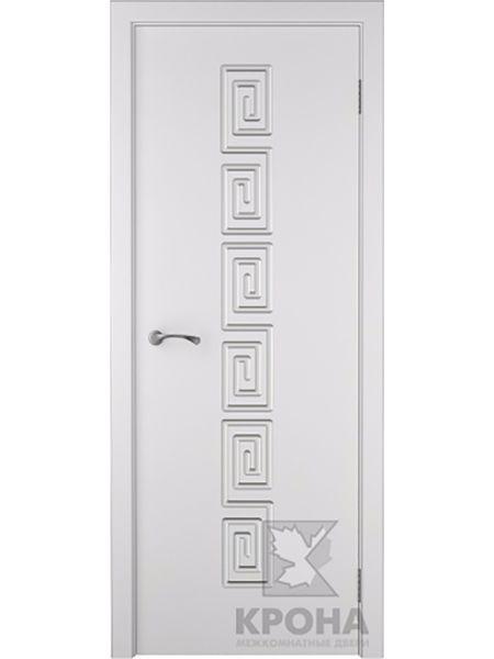 Межкомнатная дверь Крона ПГ Греция (Белая эмаль)