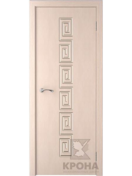 Межкомнатная дверь Крона ПГ Греция (Беленый дуб)
