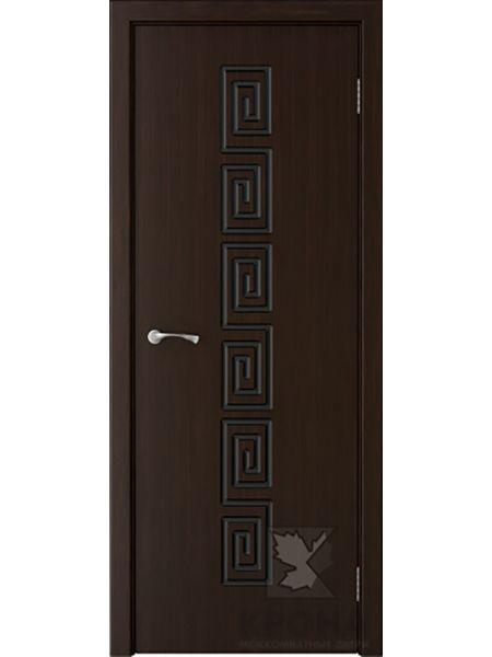 Межкомнатная дверь Крона ПГ Греция (Темный шоколад)