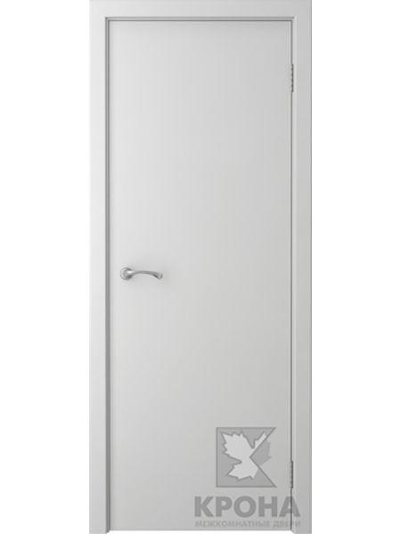 Межкомнатная дверь Крона ПГ Карат (Белая эмаль)