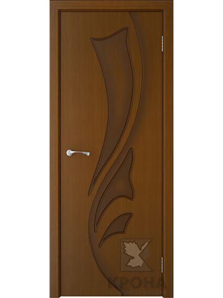 Межкомнатная дверь Крона ПГ Лидия (Орех)