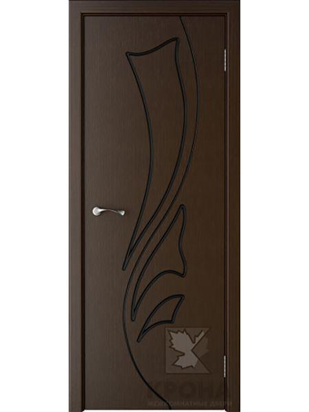 Межкомнатная дверь Крона ПГ Лидия (Венге)
