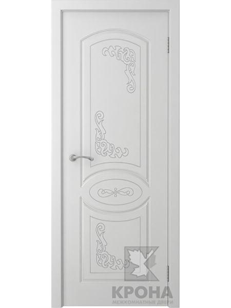 Межкомнатная дверь Крона ПГ Муза (Белая эмаль)