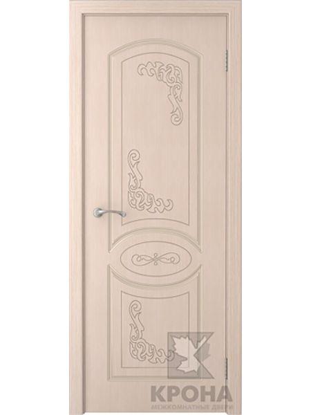 Межкомнатная дверь Крона ПГ Муза (Беленый дуб)