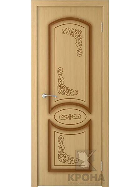Межкомнатная дверь Крона ПГ Муза (Дуб)
