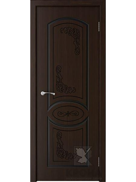 Межкомнатная дверь Крона ПГ Муза (Темный шоколад)