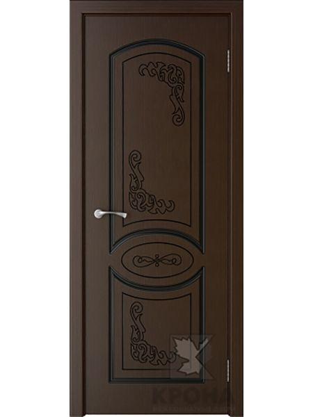 Межкомнатная дверь Крона ПГ Муза (Венге)