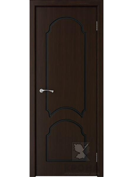 Межкомнатная дверь Крона ПГ Соната (Темный шоколад)