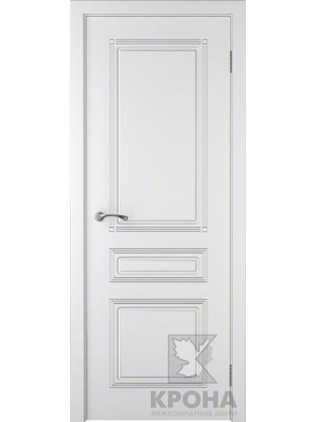 Межкомнатная дверь Крона ПГ Стиль (Белая эмаль)