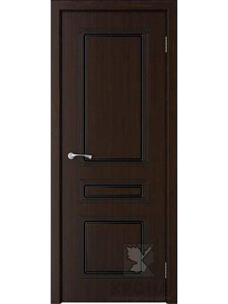 Межкомнатная дверь Крона ПГ Стиль (Темный шоколад)