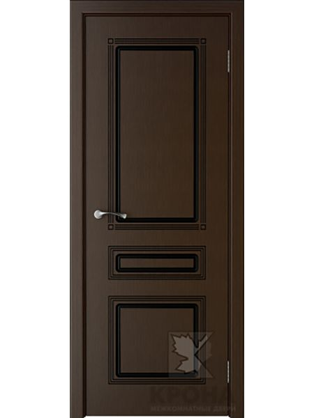 Межкомнатная дверь Крона ПГ Стиль (Венге)