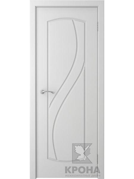 Межкомнатная дверь Крона ПГ Венера (Белая эмаль)