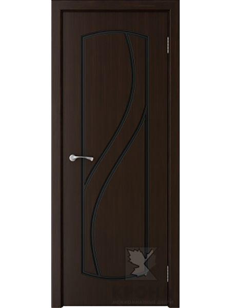 Межкомнатная дверь Крона ПГ Венера (Темный шоколад)