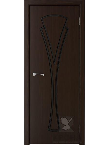 Межкомнатная дверь Крона ПГ Вита (Темный шоколад)