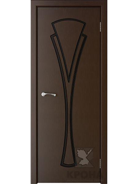 Межкомнатная дверь Крона ПГ Вита (Венге)