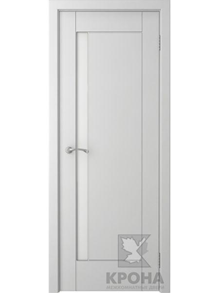 Межкомнатная дверь Крона ПО Гранада (Белая эмаль)