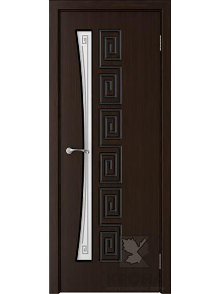 Межкомнатная дверь Крона ПО Греция (Темный шоколад)
