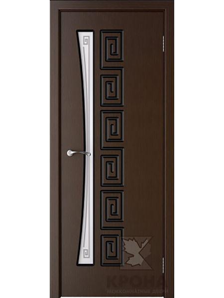 Межкомнатная дверь Крона ПО Греция (Венге)