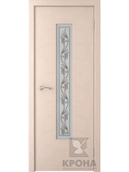 Межкомнатная дверь Крона ПО Карат (Беленый дуб)