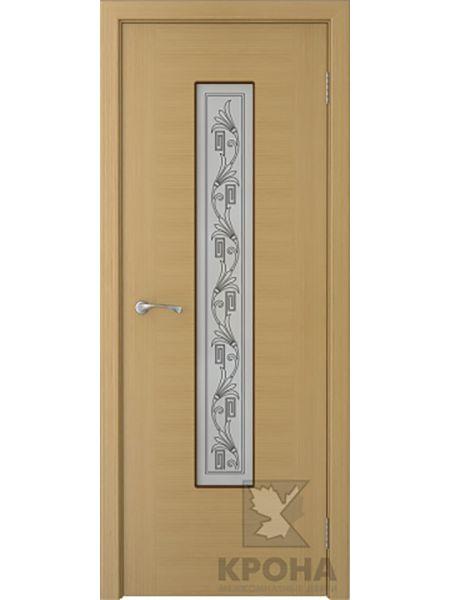 Межкомнатная дверь Крона ПО Карат (Дуб)