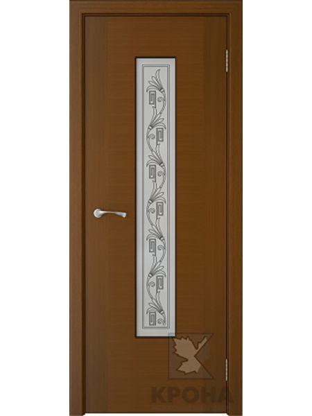 Межкомнатная дверь Крона ПО Карат (Орех)