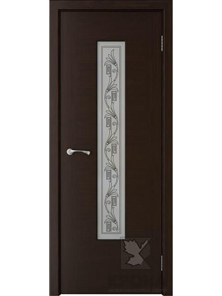 Межкомнатная дверь Крона ПО Карат (Темный шоколад)