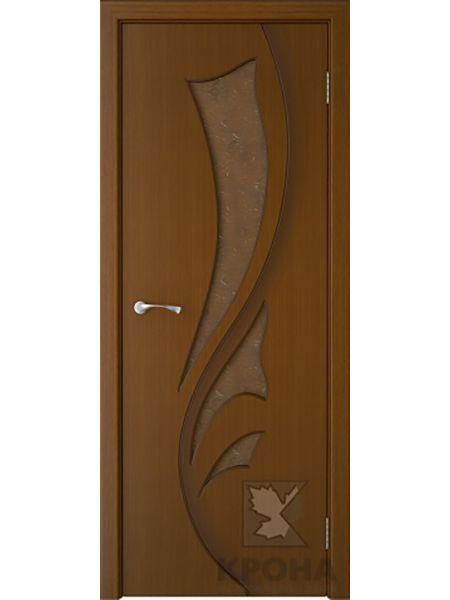 Межкомнатная дверь Крона ПО Лидия (Орех)