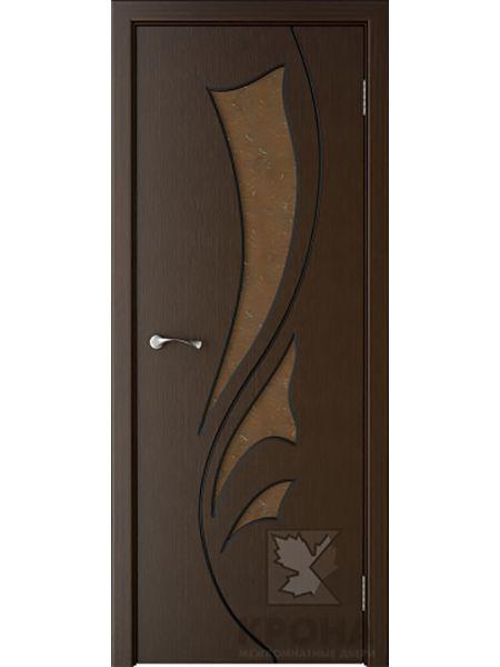 Межкомнатная дверь Крона ПО Лидия (Венге)