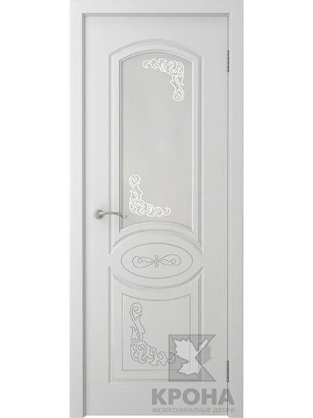 Межкомнатная дверь Крона ПО Муза (Белая эмаль)