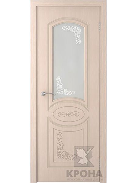 Межкомнатная дверь Крона ПО Муза (Беленый дуб)