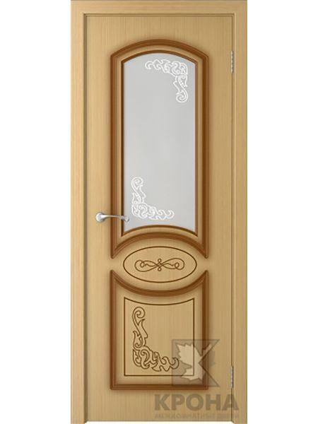 Межкомнатная дверь Крона ПО Муза (Дуб)