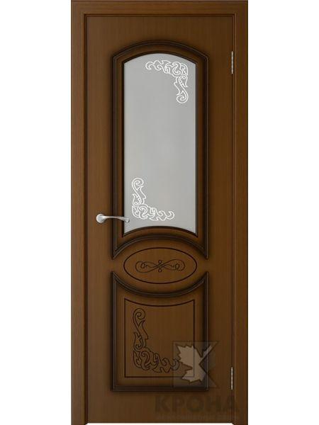 Межкомнатная дверь Крона ПО Муза (Орех)