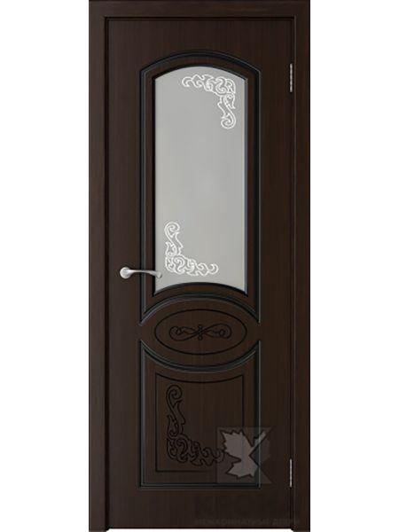 Межкомнатная дверь Крона ПО Муза (Темный шоколад)