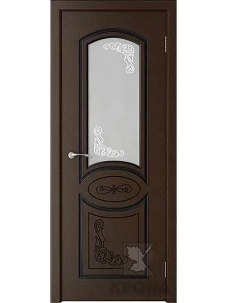 Межкомнатная дверь Крона ПО Муза (Венге)