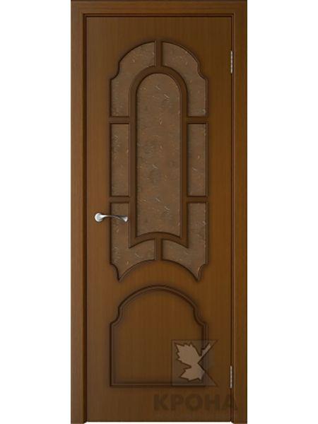Межкомнатная дверь Крона ПО Соната (Орех)