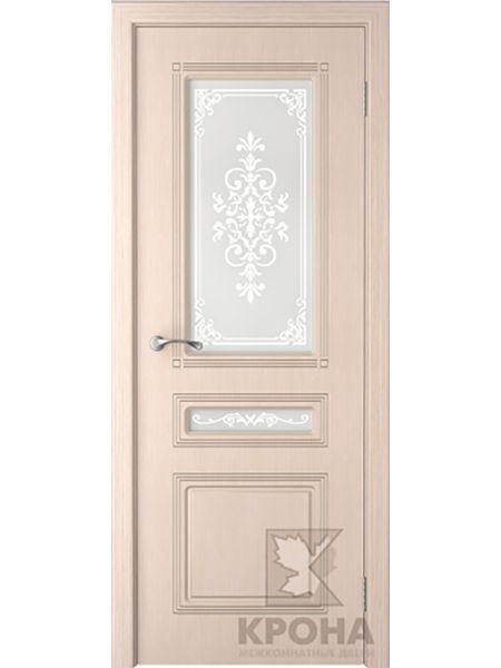 Межкомнатная дверь Крона ПО Стиль (Беленый дуб)