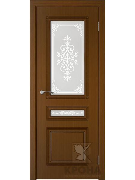 Межкомнатная дверь Крона ПО Стиль (Орех)