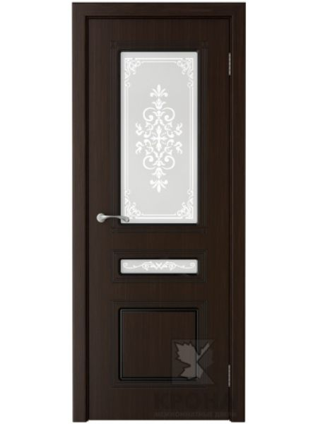 Межкомнатная дверь Крона ПО Стиль (Темный шоколад)