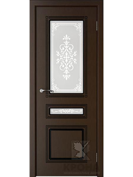 Межкомнатная дверь Крона ПО Стиль (Венге)
