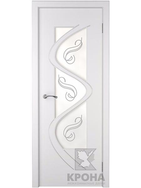 Межкомнатная дверь Крона ПО Вега (Белая эмаль)