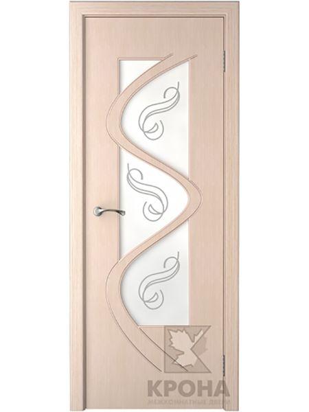 Межкомнатная дверь Крона ПО Вега (Беленый дуб)
