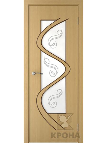 Межкомнатная дверь Крона ПО Вега (Дуб)