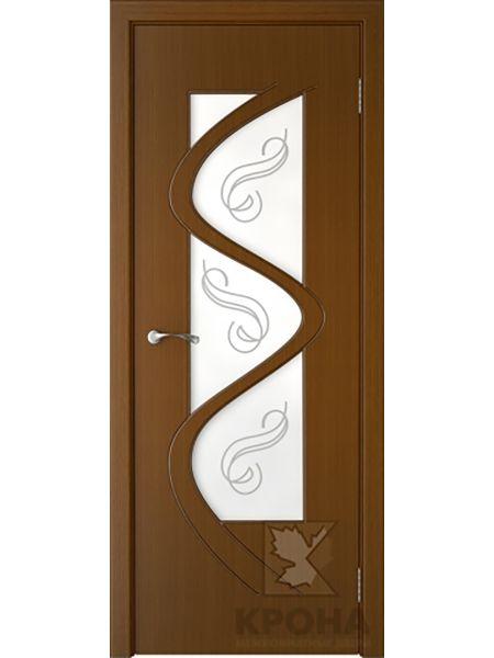 Межкомнатная дверь Крона ПО Вега (Орех)