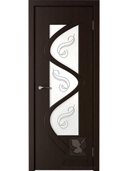 Межкомнатная дверь Крона ПО Вега (Темный шоколад)