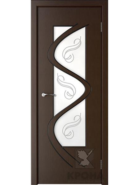 Межкомнатная дверь Крона ПО Вега (Венге)