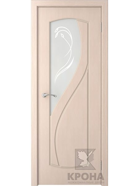 Межкомнатная дверь Крона ПО Венера (Беленый дуб)